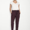 Bordeaux cropped παντελόνι με ζώνη