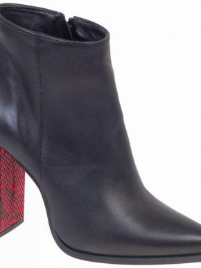 Ankle boots με κόκκινο τακούνι